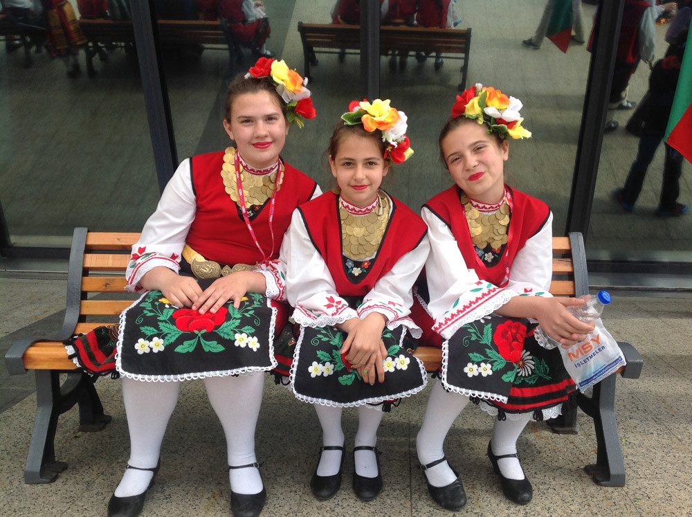 A Magnificent Show Performed by Folkloric Dance Teams of Children from 10 Countries at the Miniatürk Galeri - 44. Resim